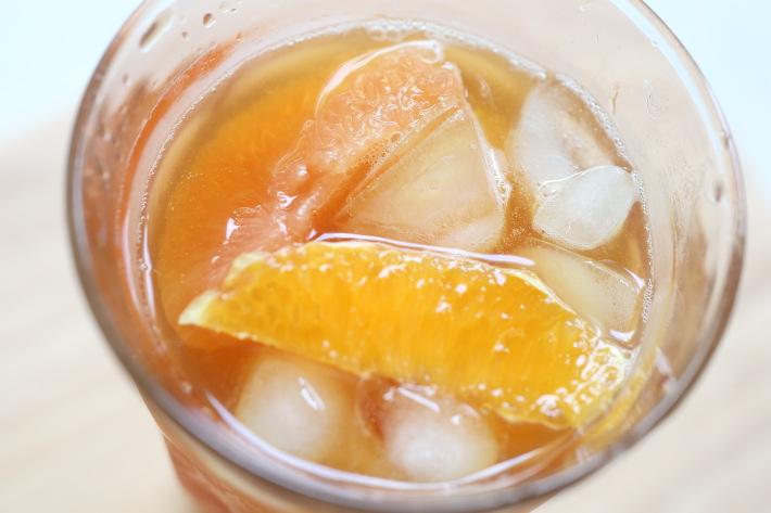 オレンジとグレープフルーツのジンジャーティー