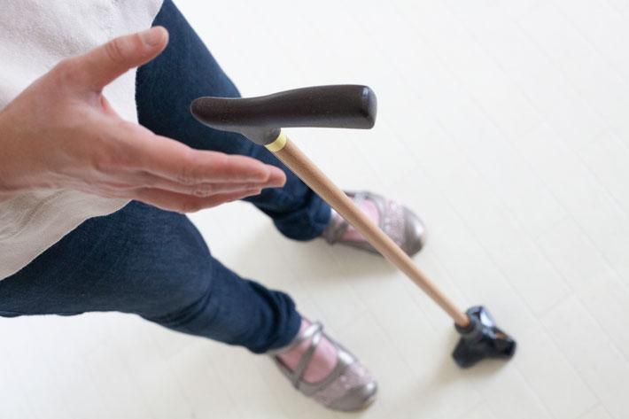 大切な相棒・使い慣れた杖を便利な自立式に。