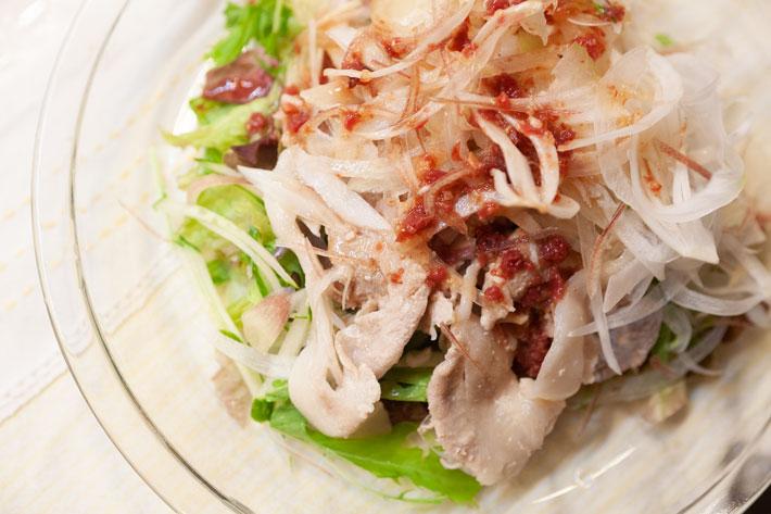 梅ショウガ風味の豚しゃぶサラダ